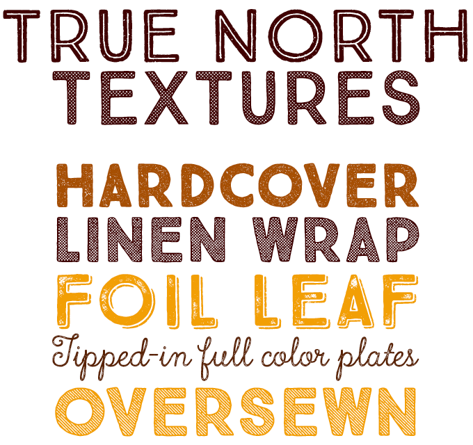 True North Textures Font Sample