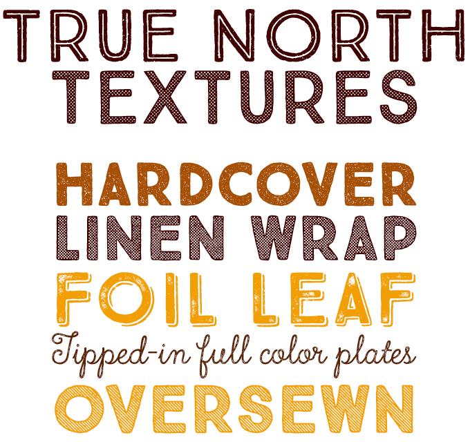 True North Textures Font Sample