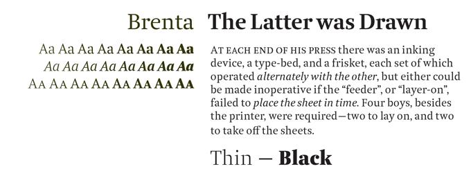 Brenta Font Sample