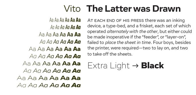 Vito Font Sample