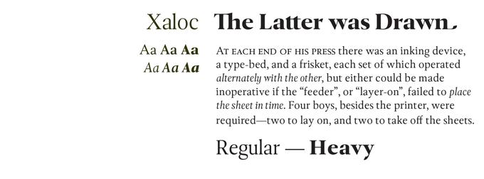 Xaloc Font Sample