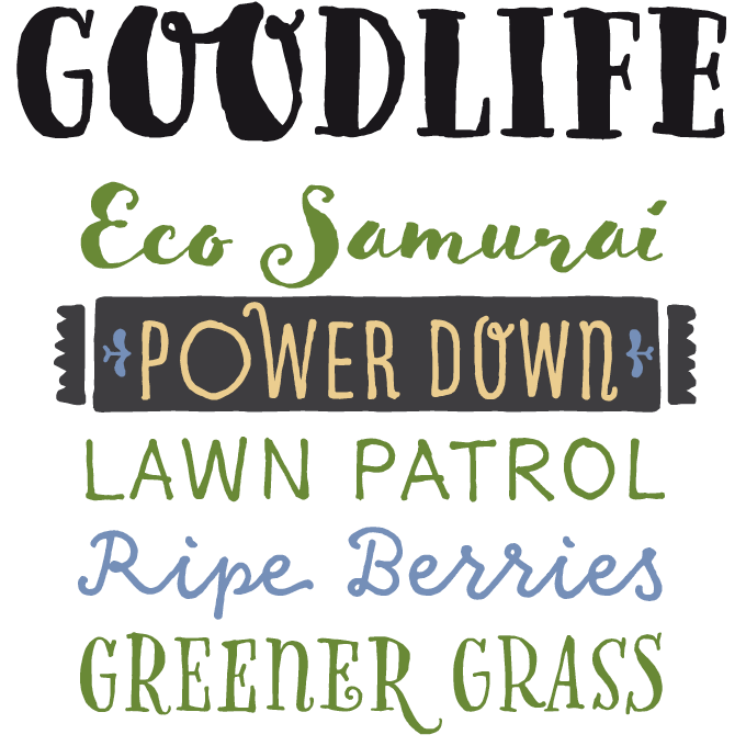 Goodlife Font Sample