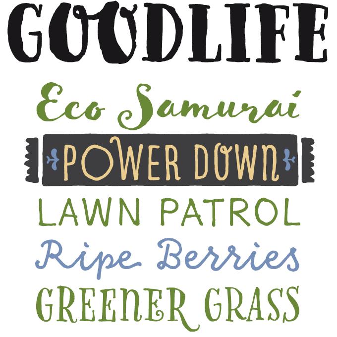 Goodlife Font Sample