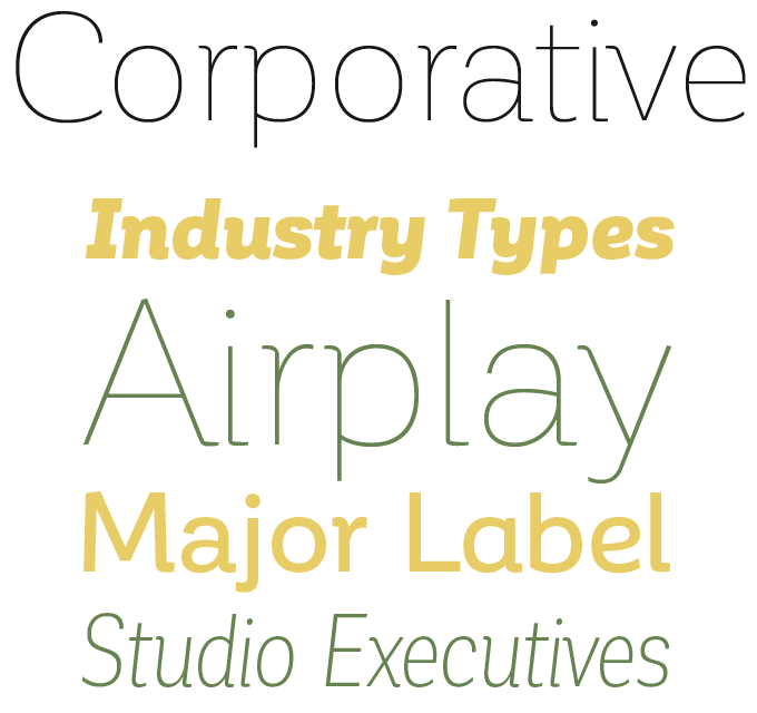 Corporative Font Sample