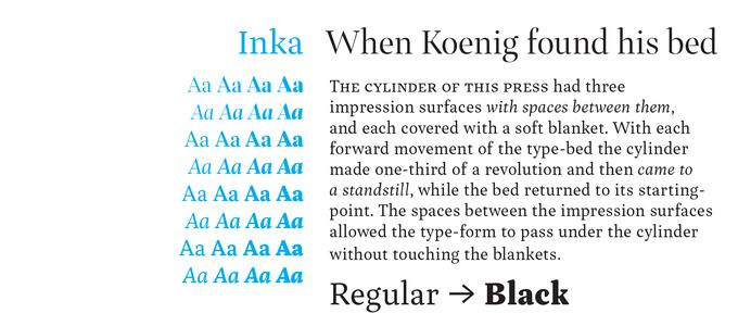 Inka Font Sample