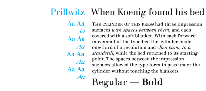 Prillwitz Font Sample