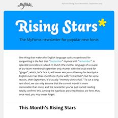 Rising Stars September 2015