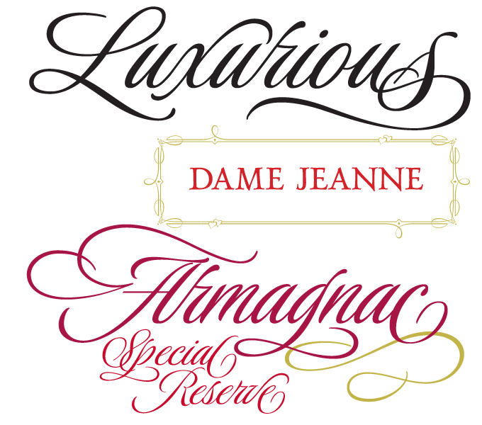 Luxurious Font Sample