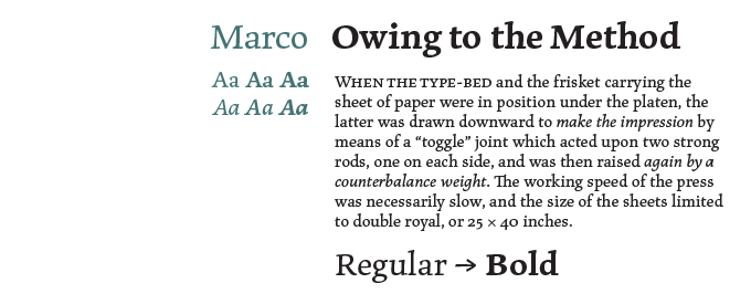 Marco Font Sample