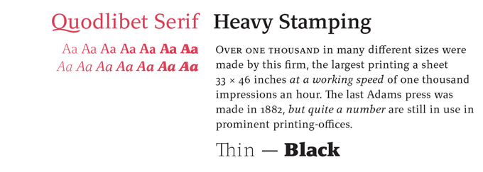 Quodlibet Serif Font Sample