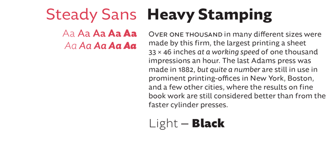 Steady Sans Font Sample