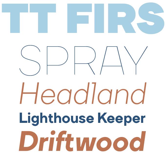 TT Firs Font Sample
