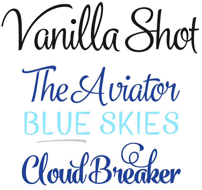 Vanilla Shot Font Sample