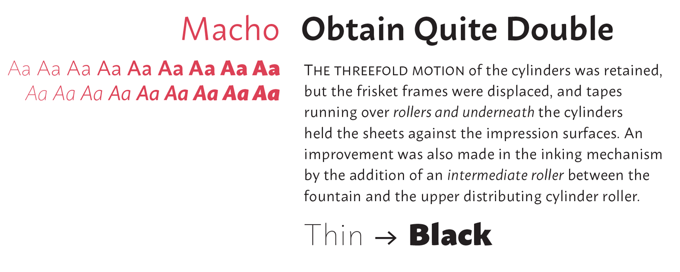 Macho Font Sample