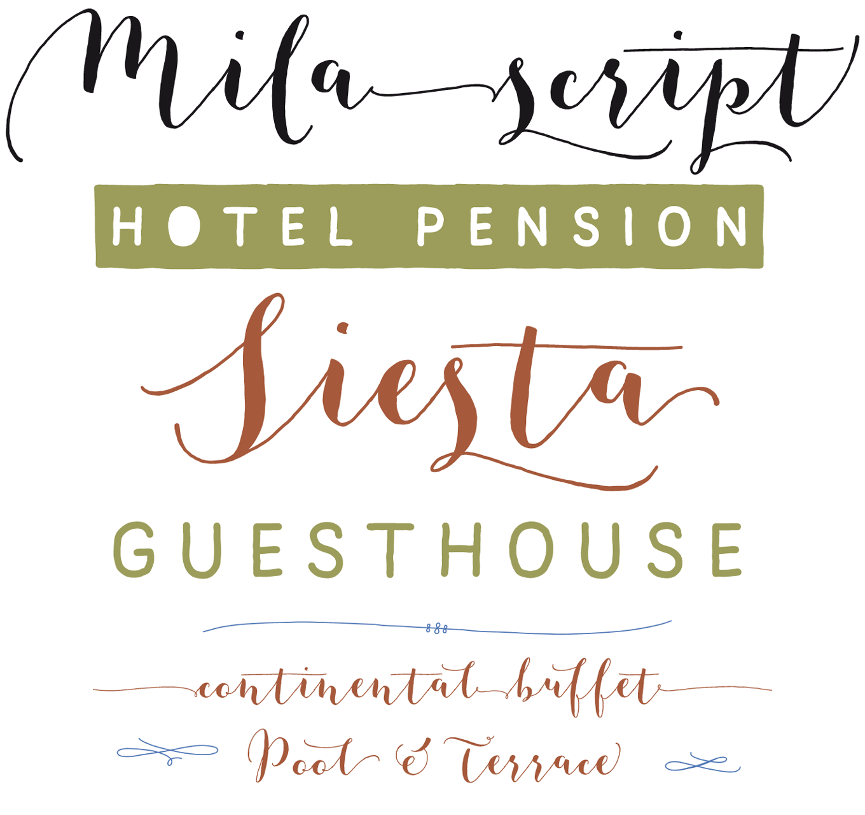 Mila Script Pro Font Sample