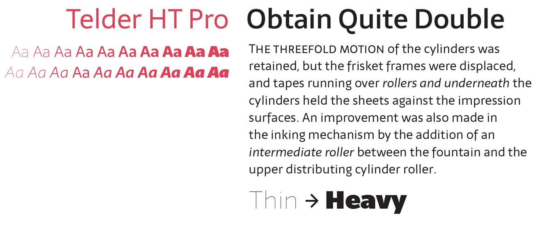 Telder HT Pro Font Sample