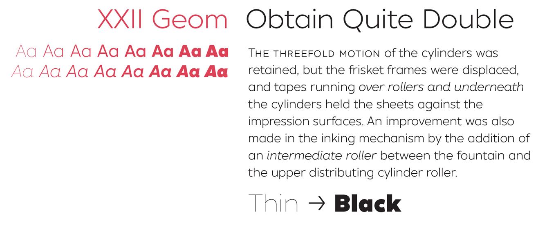XXII Geom Font Sample