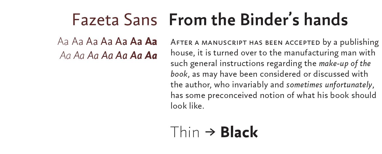 Fazeta Sans Font Sample