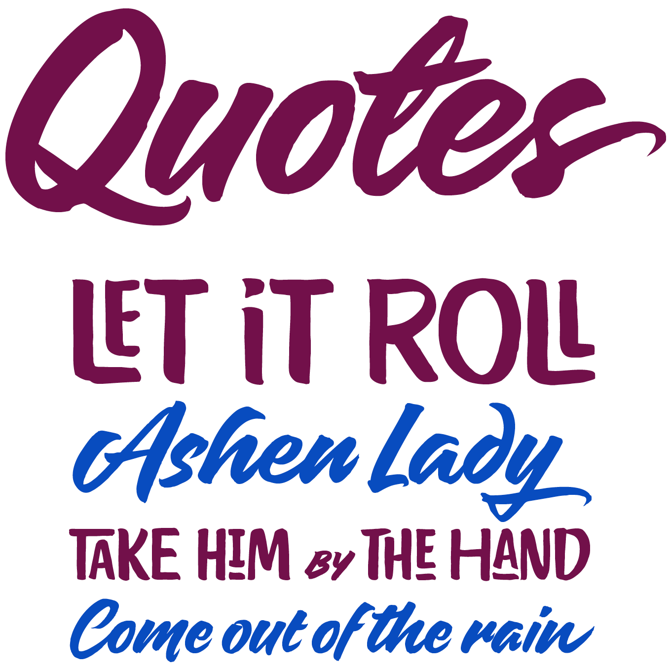 Quotes Font Sample