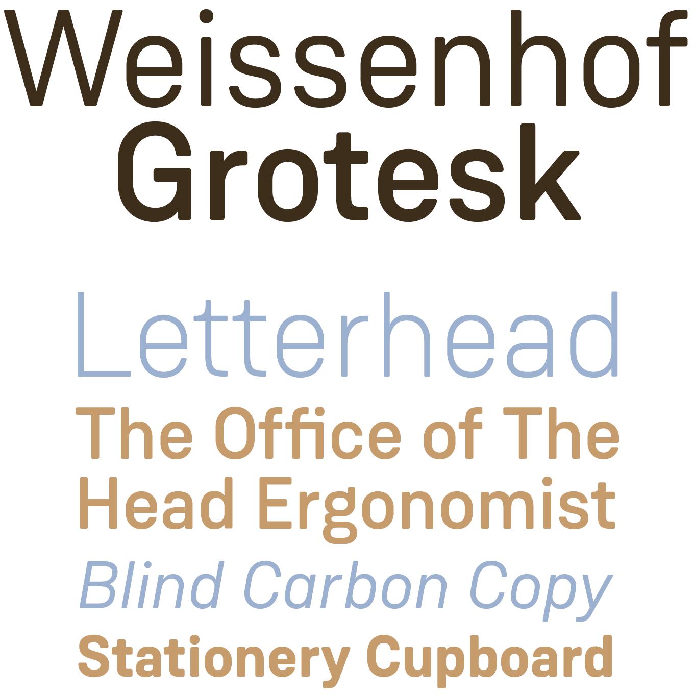 Weissenhof Grotesk Font Sample