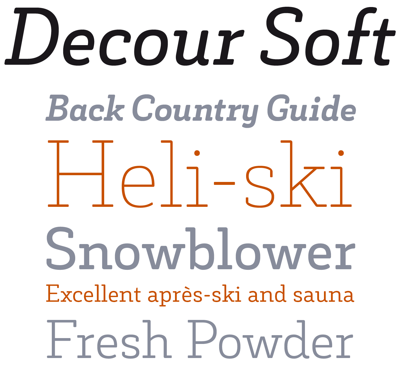 Decour Soft Font Sample