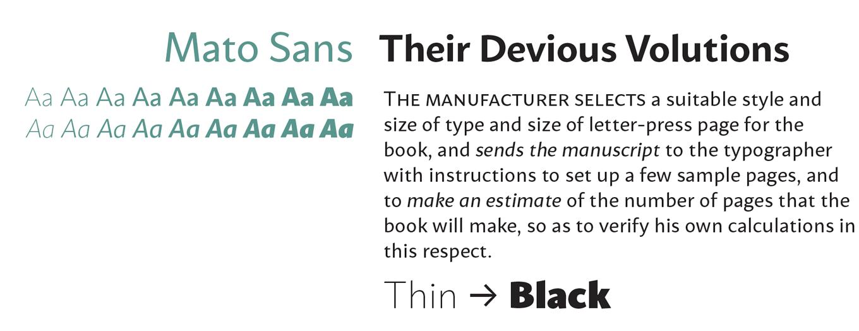 Mato Sans Font Sample