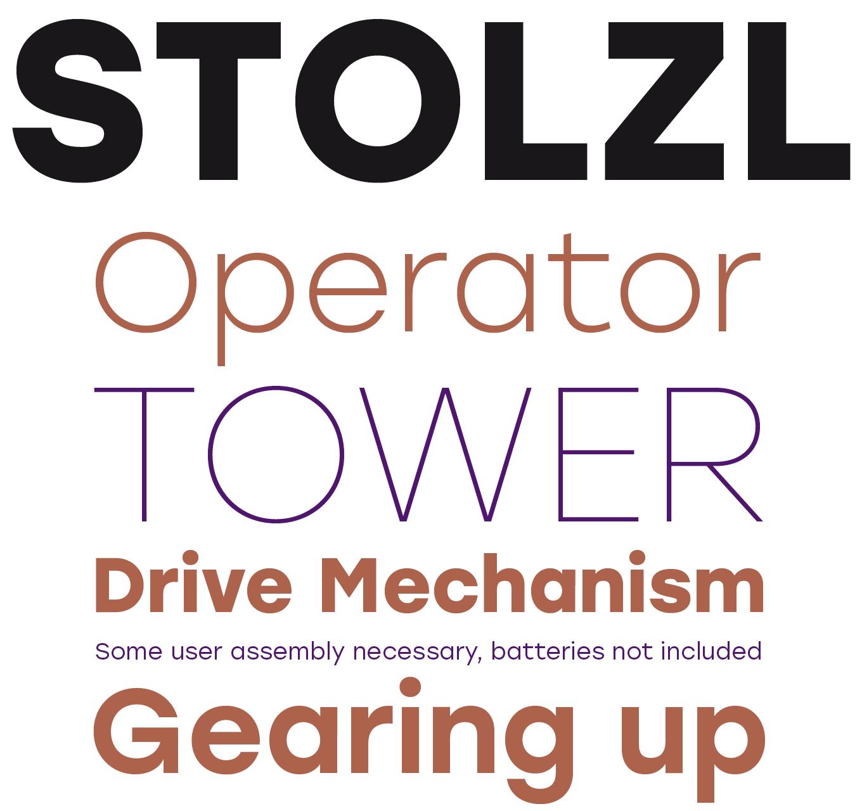 Stolzl Font Sample