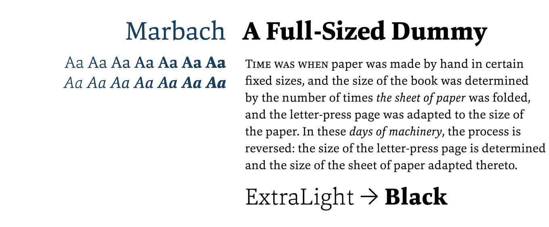 Marbach Font Sample