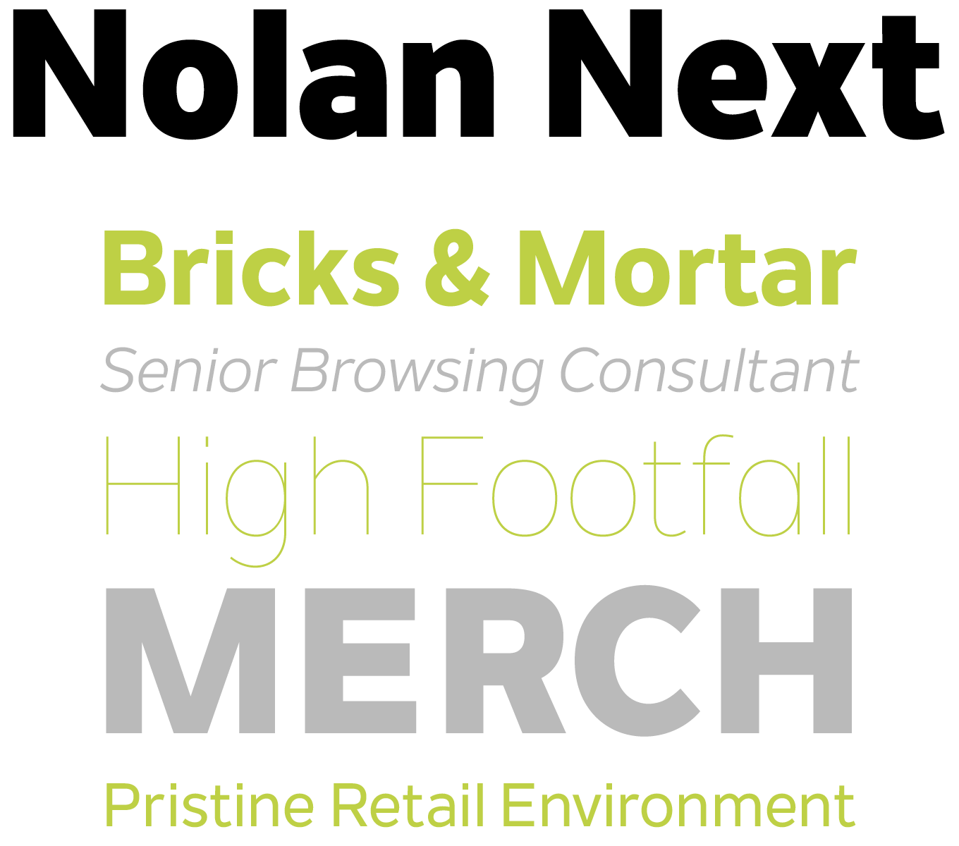 Nolan Next Font Sample