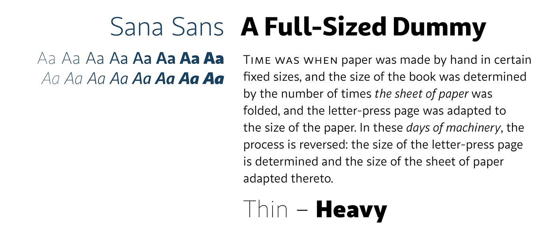 sana sans Font Sample