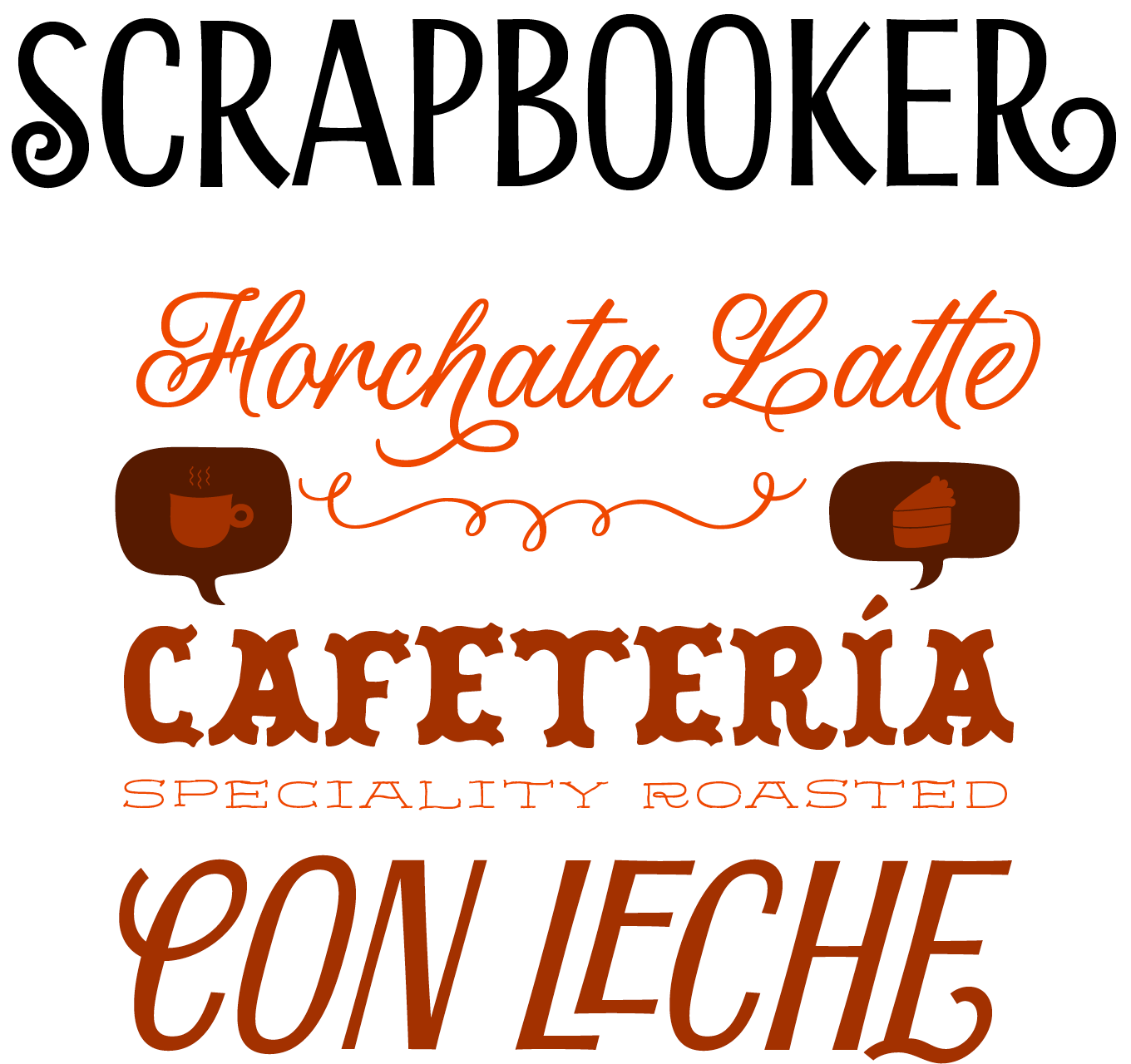 Scrapbooker Font Sample