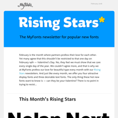 February 2016 Rising Stars