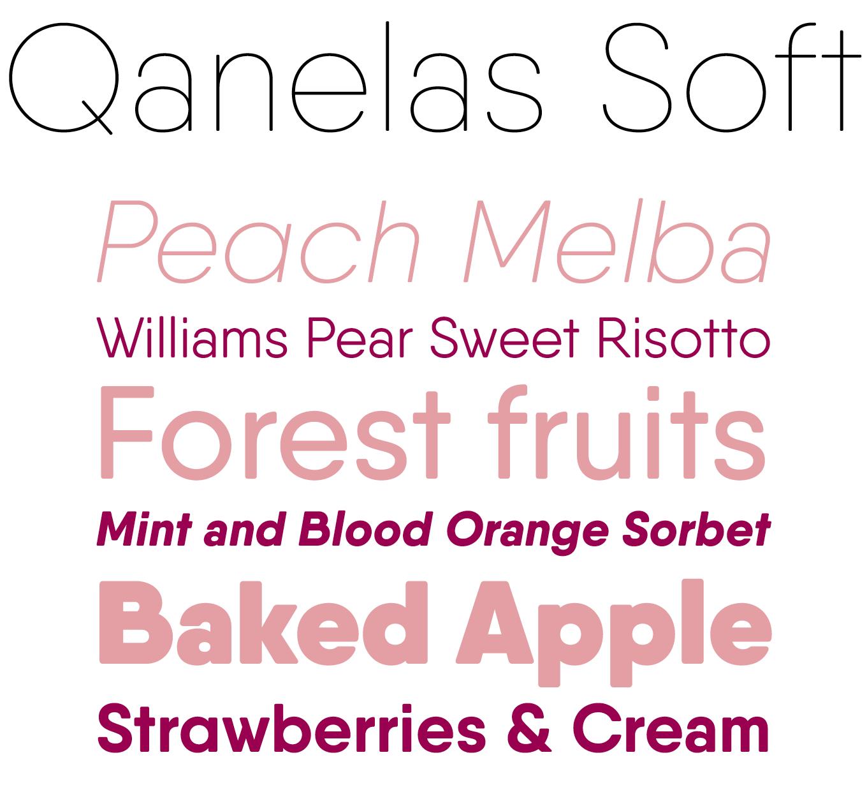 Qanelas Soft Font Sample