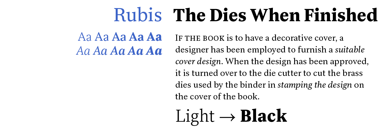Rubis Font Sample