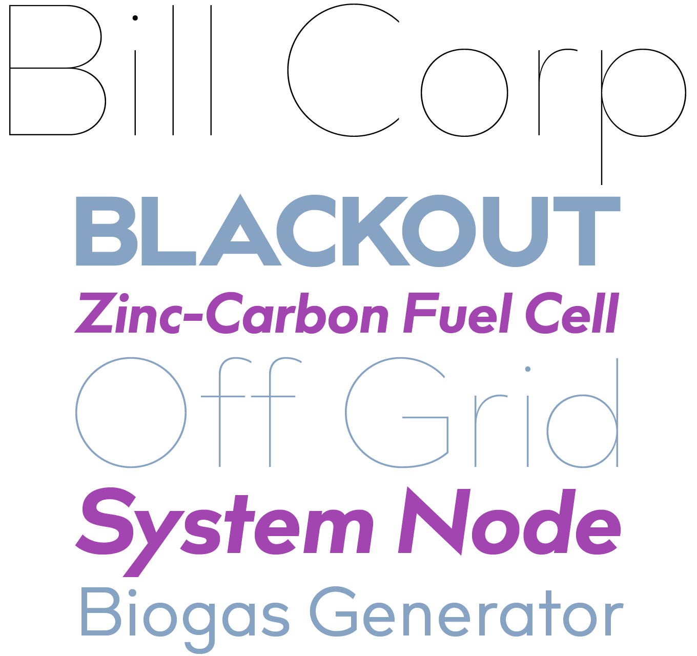 Bill Corporate MX Font Sample