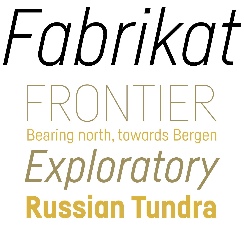 Fabrikat Font Sample