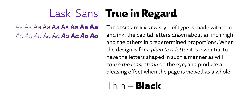 Laski Sans Font Sample