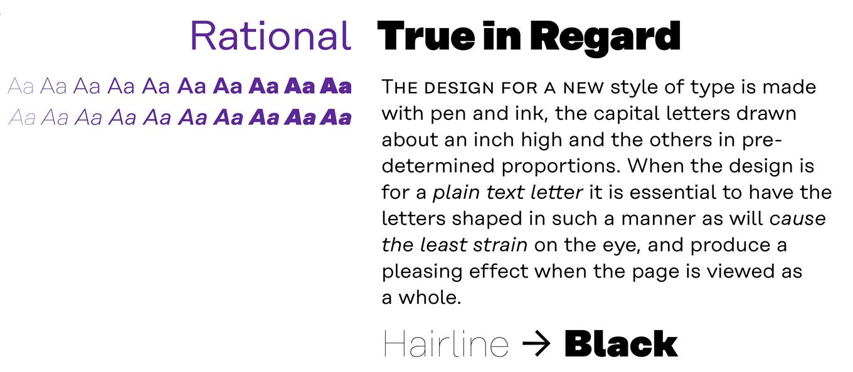 Rational Font Sample