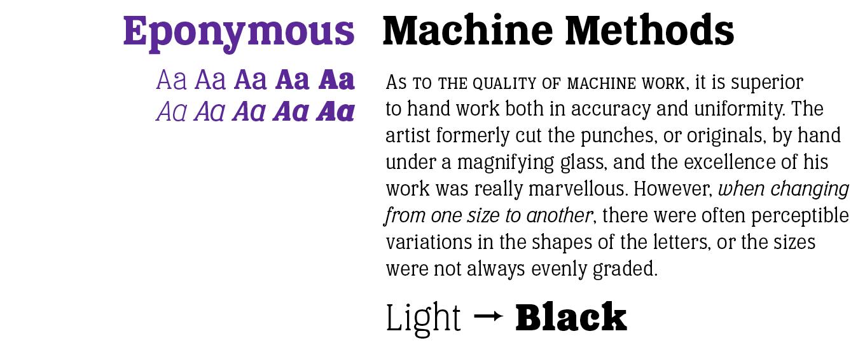 Eponymous Font Sample