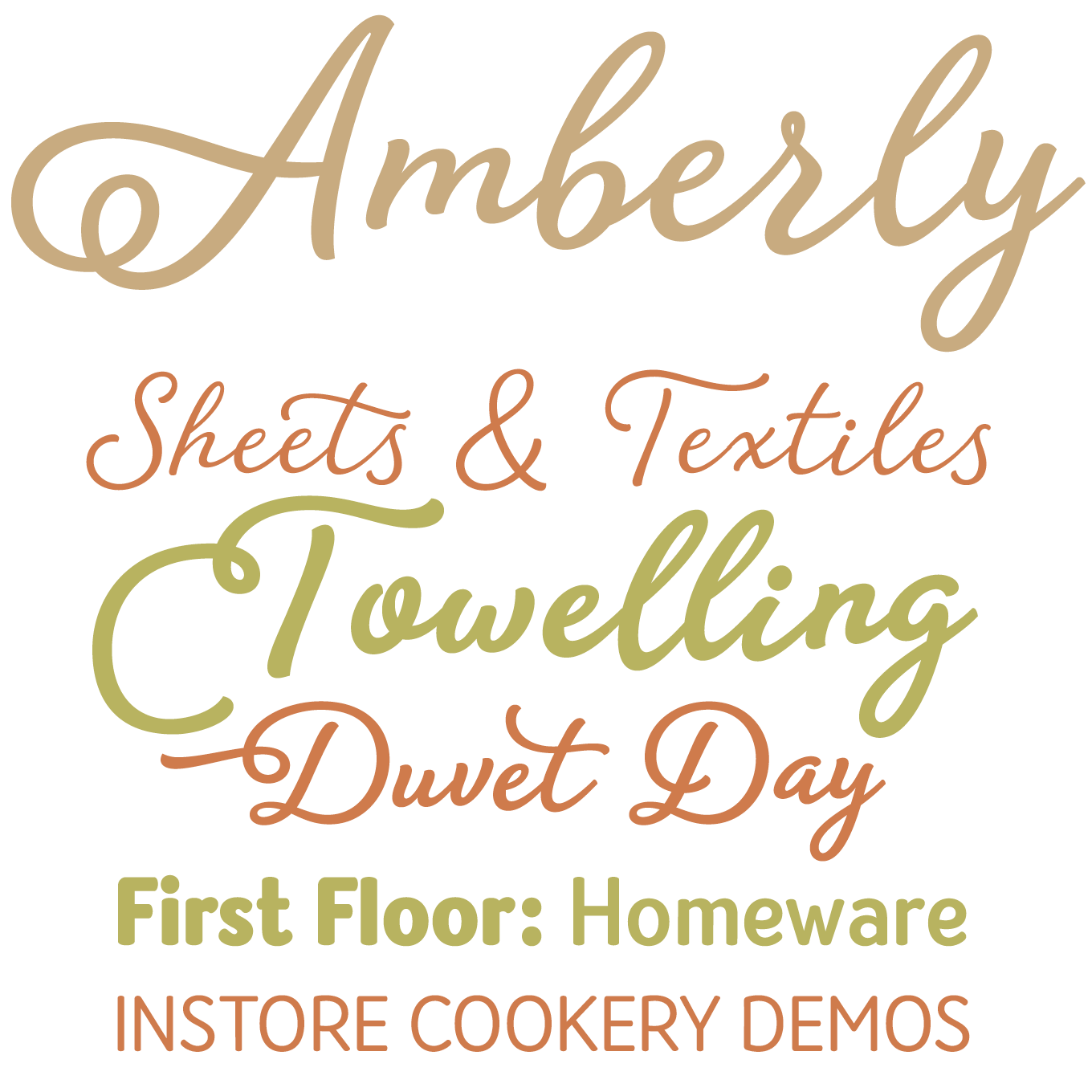 Amberly Font Sample