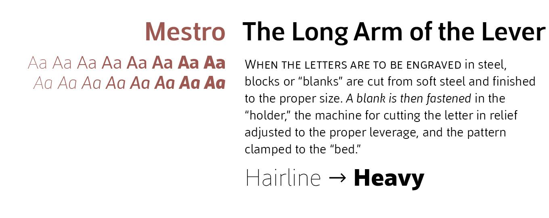 Mestre Font Sample