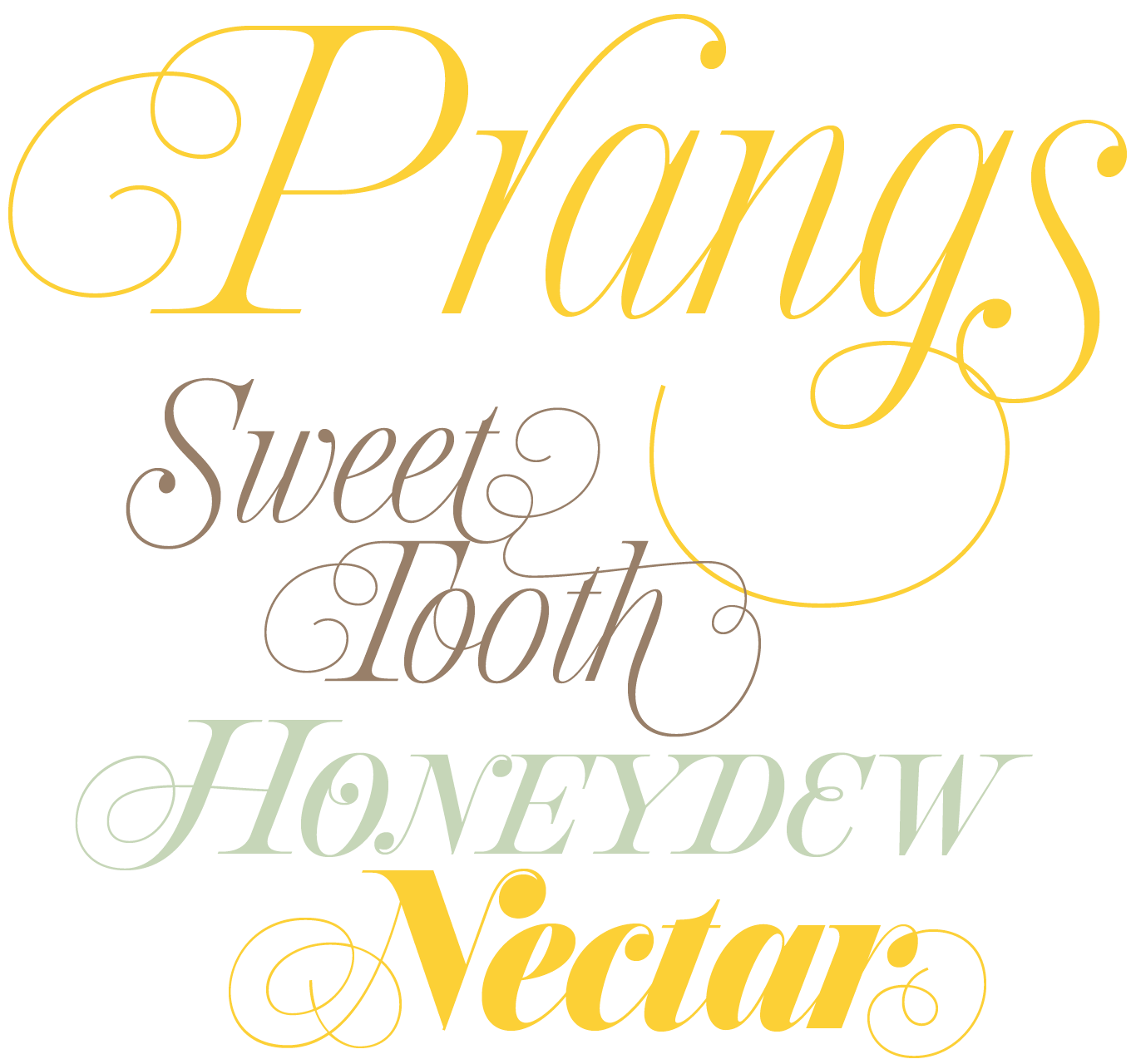 Prangs Font Sample