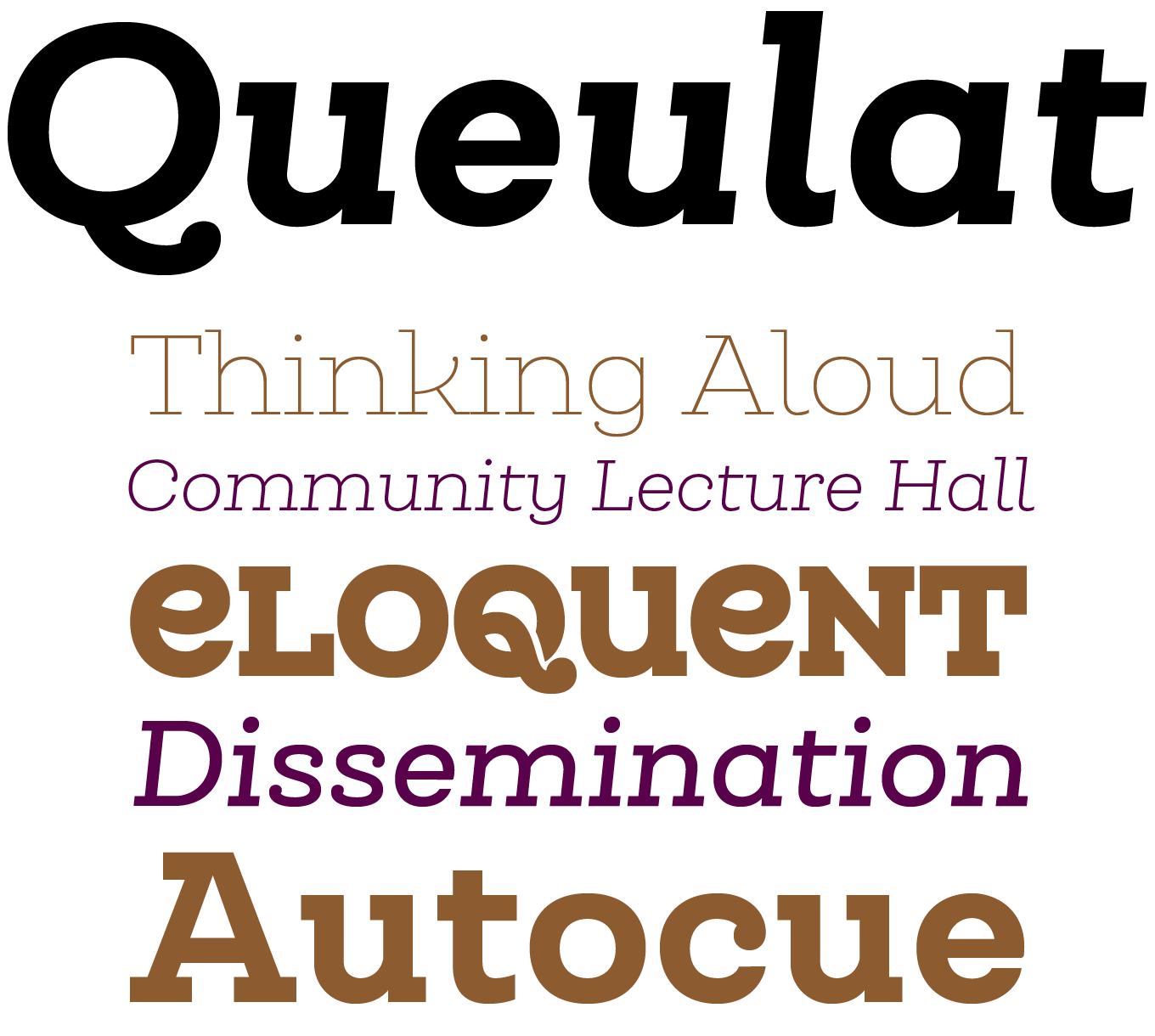 Queulat Font Sample
