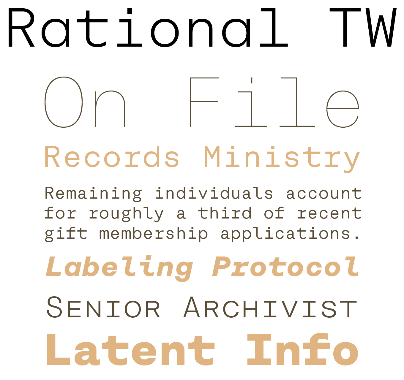 Rational TW Font Sample