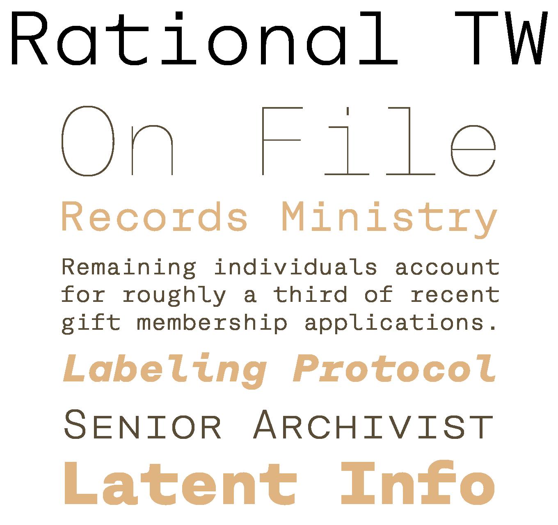 Rational TW Font Sample