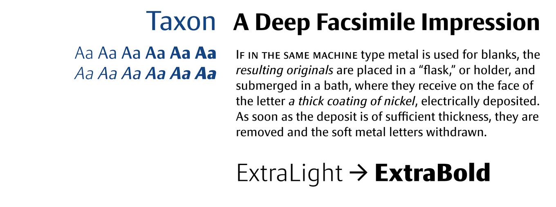 Taxon Font Sample