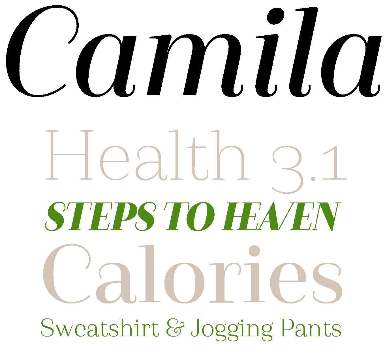 Camila Font Sample