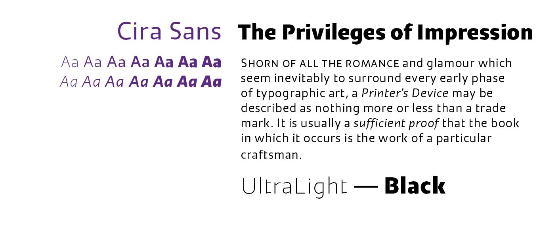 Cira Sans Font Sample