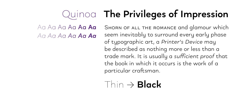 Quinoa Font Sample