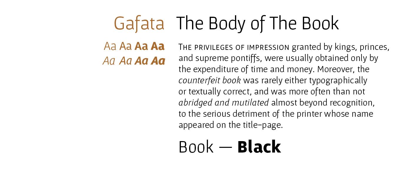 Gafata Pro Font Sample